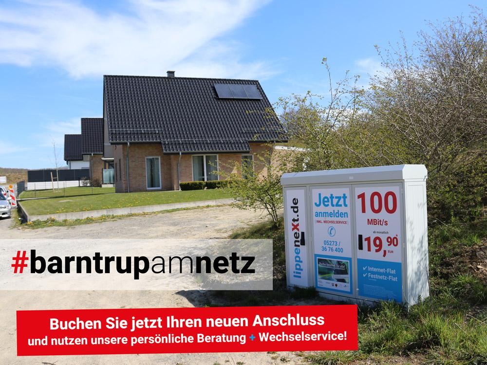Schnelles Internet für Barntrup - lippeneXt.de
